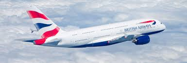 A British Airways South Africa aircraft in flight.