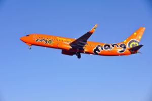 A Mango jet in flight