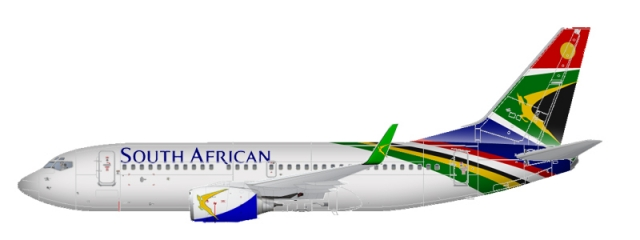 The Modern South African Airways Livery.
