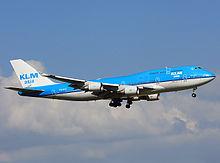 A KLM jet in flight - 2017