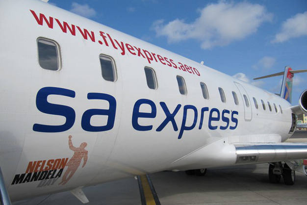 An SA Express Jet on the ground