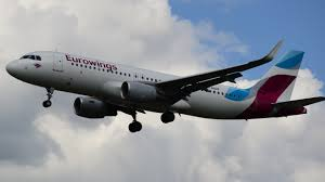 An Eurowings SA Airbus A320 in flight