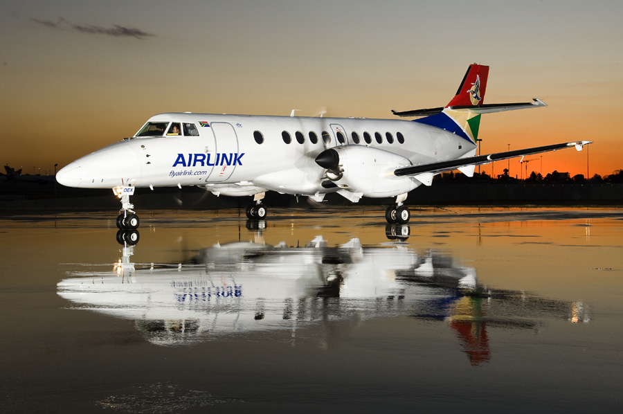 An SA Airlink jet on the ground.