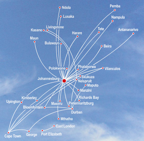 SA Airlink's Destinations