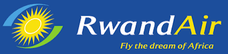 The official RwandAir logo 2017